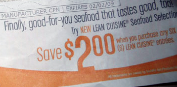 Coupon for an unhealthy processed meal